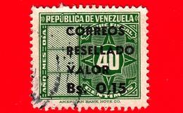 VENEZUELA - Usato - 1965 - Segnatasse - Fiscal - Tax Stamps - Resellado 0.15 Su 40 - Venezuela