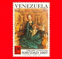 VENEZUELA - Usato - 1967 - Natale - Christmas - La Virgen Del Rosal - 1.00 P. Aerea - Venezuela