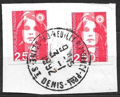 FRANCE  2720  Marianne De Briat 2.50 Rouge Autoadhésif 3 . - Oblitérés