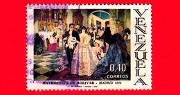 VENEZUELA - Usato - 1969 - Matrimonio Di Bolivar, Madrid 1802 - Wedding - 0.10 - Venezuela