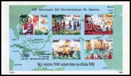 Vietnam 1992  YT 1274-78 ; Mi# 2400-04  (*) MNG  Sheet  Imperforate - Vietnam