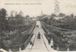 CPA 51 (Marne) HAUTEVILLE / LA CÔTE / AVENUE DES PONTS / ANIMEE - Other Municipalities