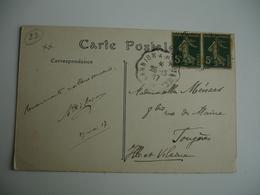 Lannion A Plouaret Cachet Ambulant Convoyeur Poste Ferroviaire Sur Lettre - Marcophilie (Lettres)