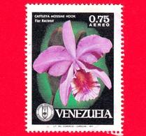 VENEZUELA - Usato - 1971 - Fiori - Orchidee - Cattleya Mossiae - 0.75 - P. Aerea - Venezuela