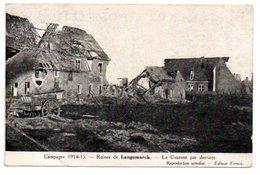 RUINES DE LANGEMARCK. LE COUVENT PAR DERRIERE. - Langemark-Poelkapelle