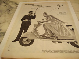 ANCIENNE PUBLICITE JEU DU  SCOOTER LAMBRETTA 1958 - Motos