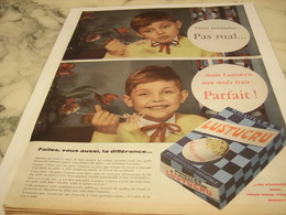 ANCIENNE PUBLICITE FAITES VOUS AUSSI LA DIFFERENCE PATE  LUSTUCRU 1958 - Afiches