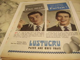 ANCIENNE PUBLICITE CHOISISSEZ BIEN PATE  LUSTUCRU 1958 - Afiches