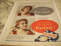 ANCIENNE PUBLICITE PARFAIT  PATE  LUSTUCRU 1958 - Affiches