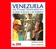 VENEZUELA - Usato - 1997 - 7 ° Summit Dei Capi Di Stato E Di Governo Dell'America Latina - Giustizia Sociale - 200 - Venezuela