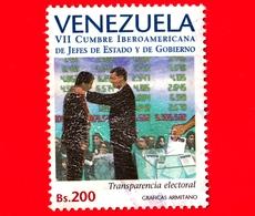 VENEZUELA - Usato - 1997 - 7 ° Summit Dei Capi Di Stato E Di Governo Dell'America Latina - Trasparenza Elettoralr - 200 - Venezuela