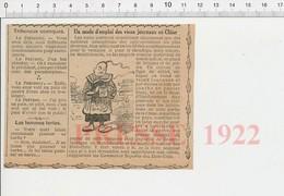 Presse 1922 Vieux Journaux En Chine Construction BTP Chinoise Architecture (Thème Débouchés De La Papeterie Papier) 226A - Ohne Zuordnung