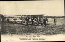 Cp Treves Metz, Semaine D'Aviation, Arrivée De Thelen, Flugzeuge - Avions