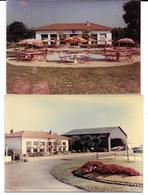 MACON - AERODROME  2 Photos Originales 1960 & 1964- TERRAIN D'AVIATION, AERO-BAR -COMBIER CIM Imp à Macon - Aviation