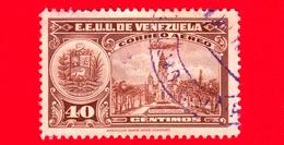 VENEZUELA - Usato - 1938 - Pantheon Nazionale - 40 P. Aerea - Venezuela