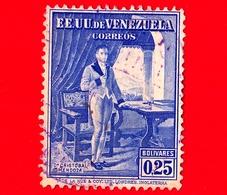 VENEZUELA - Usato - 1939 - 100 Anni Della Morte Del Dr. Cristobal Mendoza - 0.25 - Venezuela