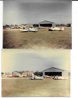 MACON - AERODROME -AVIONS -PERSONNAGES-  TERRAIN D'AVIATION - 2 Photos Originales 1960 COMBIER CIM Imp à Macon - Aviation