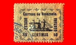 VENEZUELA - Usato - 1903 - Piroscafo Rivoluzionario 'Ban-Righ' - ESTADO GUAYANA - 50 - Venezuela