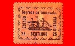 VENEZUELA - Usato - 1903 - Piroscafo Rivoluzionario 'Ban-Righ' - ESTADO GUAYANA - 25 - Venezuela