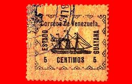 VENEZUELA - Usato - 1903 - Piroscafo Rivoluzionario 'Ban-Righ' - ESTADO GUAYANA - 5 - Venezuela