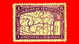 Nuovo - MH - VENEZUELA - 1896 - Anniversario Della Morte Di Francisco De Miranda - 1 - Venezuela