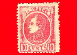 Nuovo - MH - VENEZUELA - 1880 - Effige Di Simón Bolívar - 10 - Venezuela
