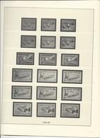 Belgique: Feuilles Lindner Chemin De Fer De 1945/48 à 1987 - Albums & Reliures