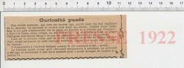 Presse 1922 Tradition Ile De Jersey .... Haro à L'aide Mon Prince On Me Fait Tort  226A - Vieux Papiers