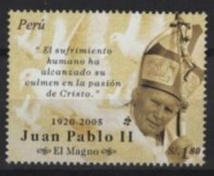 Peru - Perou (2005) Yv. 1509  /  Pope - Papa - John Paul II - Juan Pablo - Pausen