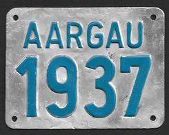 Velonummer Aargau AG 37 - Plaques D'immatriculation