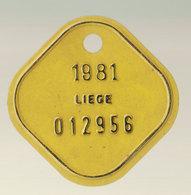 Plaque Vélo Liège 1981 - Autres Collections
