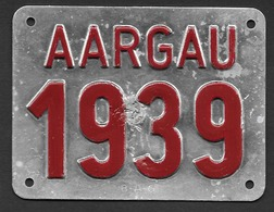 Velonummer Aargau AG 39 - Plaques D'immatriculation