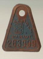 Plaque Vélo Hainaut 1943 - Autres Collections
