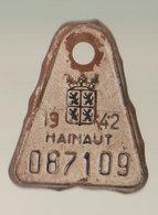 Plaque Vélo Hainaut 1942 - Autres Collections