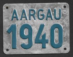 Velonummer Aargau AG 40 - Number Plates