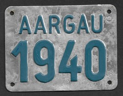 Velonummer Aargau AG 40 - Plaques D'immatriculation