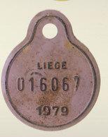 Plaque Vélo Liège 1979 - Autres Collections