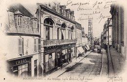 2728 Cpa 18 Bourges - Rue Moyenne, Cercle Militaire, Café Chanut - Bourges