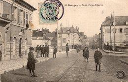2738 Cpa 18 Bourges - Pont Et Rue D'Auron - Bourges