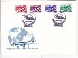 MOLDOVA  MOLDAVIE  MOLDAWIEN  MOLDAU , 1992 ,  Air Mail , First Issue , FDC. - Moldova