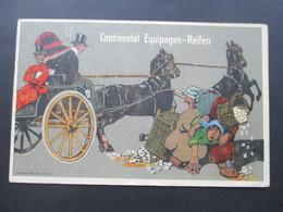 AK Werbepostkarte 1916 Continental Equipagen Reifen / Pferdekutsche Feldpostkarte 1. WK Fuss Artillerie Batterie 118 - Werbepostkarten