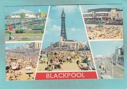 Small Multiy View Post Card Of Blackpool,Lancashire,K85. - Blackpool