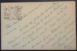 Carte De Franchise Militaire Publicitaire Le Petit Dauphinois Illustration Soldat Pensant à Sa Femme > La Tour-du-Pin - Marcophilie (Lettres)