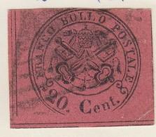 ETATS PONTIFICAUX. N° 16a. 20 CENT /  7563 - Etats Pontificaux