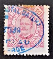EFFIGIE DE CARLOS 1ER 1893/94 - OBLITERE - YT 26 - MAGNIFIQUE OBLITERATION BLEUE - Cap Vert