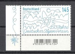 Deutschland / Germany / Allemagne 2019 3456 ** 150 J. Deutscher Alpenverein (04.04.19) - BRD