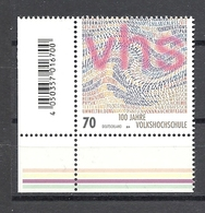 Deutschland / Germany / Allemagne 2019 3457 ** 100 J. Volkshochschule (04.04.19) - BRD