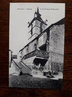 L17/229 Suisse. Estavayer. L'Eglise Et La Fontaine St Laurent - FR Fribourg