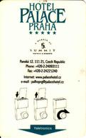 Czech Republic, Hotel Magnetic Keycard, Hotel Palace Praha - Cartes D'hotel