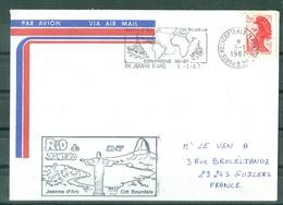 MARCOPHILIE - P H Jeanne D'Arc CDT BOURDAIS Campagne 86-87 Escale RIO DE JANEIRO (Flamme Du 9-1-1987) - Poste Navale